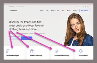 informationen zusatzleistungen online-shop