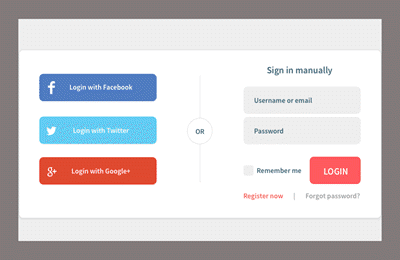 social login online shop